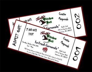 Misfit's Witches Ball Tickets